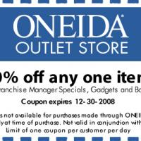 Printable 20% Off Oneida Outlet Store - Printable Discount Coupons - Free Printable Coupons