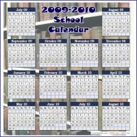 Printable 2009-2010 Old Books School Calendar - Printable Calandars - Free Printable Calendars
