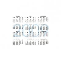 Printable 2009 Calendar In The Middle - Printable Calendar Templates - Free Printable Calendars