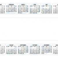 Printable 2009 Calendar With Blank Middle Space - Printable Calendar Templates - Free Printable Calendars