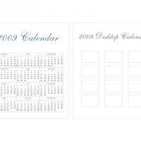 Printable 2009 CD Case Calendar - Printable Calendar Templates - Free Printable Calendars