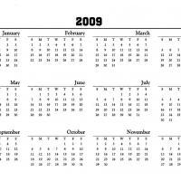 2009 Office Calendar