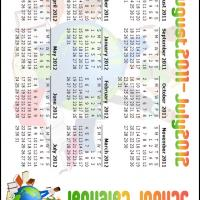 2011-2012 School Calendar