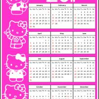 2011 Hello Kitty Calendar