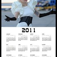 Printable 2011 Lady Gaga Calendar - Printable Yearly Calendar - Free Printable Calendars