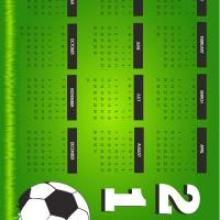 Printable 2011 Soccer Themed Calendar - Printable Yearly Calendar - Free Printable Calendars