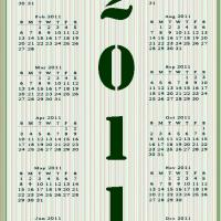 Printable 2011 Stripes Calendar - Printable Weekly Calendar - Free Printable Calendars