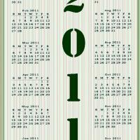 2011 Stripes Calendar
