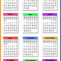 2012 Colorful Envelopes Calendar