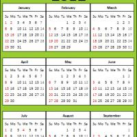 Printable 2012 Eco-Friendly Calendar - Printable Yearly Calendar - Free Printable Calendars