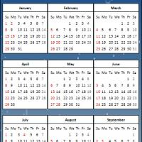 Printable 2012 Penguins Calendar - Printable Yearly Calendar - Free Printable Calendars