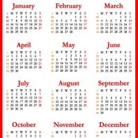 Printable 2013 Red Calendar - Printable Yearly Calendar - Free Printable Calendars