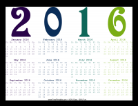 Year-At-A-Glance 2016 Calendar