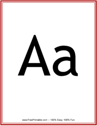 Flash Card Letter A