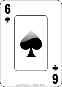 Six of Spades Playing Card