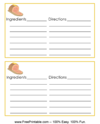 Ham Recipe Card