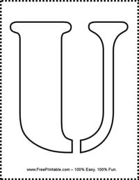 Letter U Stencil
