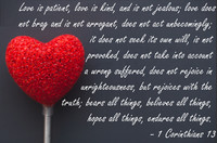 Love is Patient Corinthians Quotation