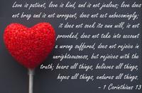 Love is Patient Corinthians Quotation