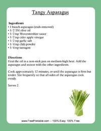Tangy Asparagus Recipe