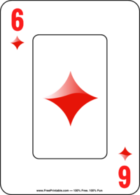 Six of Diamonds Playing Card