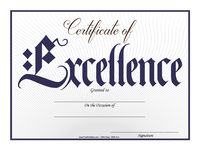 Gothic Excellence Certificate