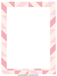 Striped Pink Letterhead