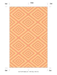 Mesmerizing Orange Bookmark