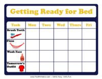 Bedtime Chore Chart
