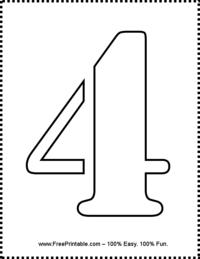 Number 4 Stencil