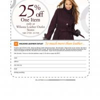 Printable Wilson Leather 25% Off - Printable Discount Coupons - Free Printable Coupons