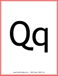 Flash Card Letter Q