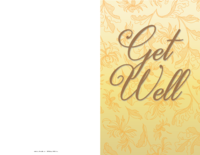 Golden Get Well Card