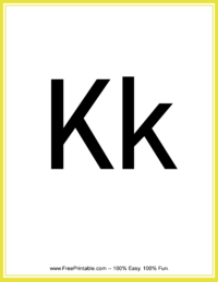 Flash Card Letter K