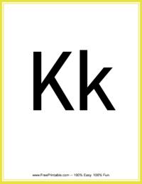 Flash Card Letter K