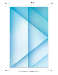 Blue X Bookmark