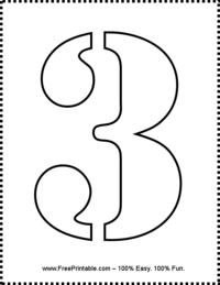 Number 3 Stencil