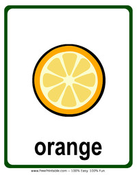 Orange Flash Card