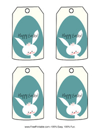 Cute Blue Easter Gift Tag