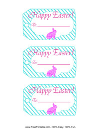 Easter Bunny Gift Tag