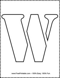 Letter W Stencil