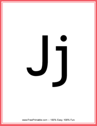 Flash Card Letter J