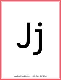 Flash Card Letter J