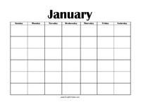Perpetual January Calendar
