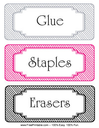 Striped Classroom Labels Staples