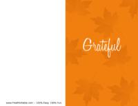 Grateful Thanksgiving Card Orange