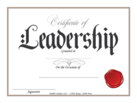 Red Seal Leadership Certificate