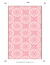 Pink Dandelion Bookmark