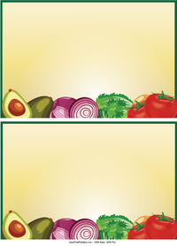 Vegetables Recipe Cards