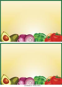 Vegetables Recipe Cards
